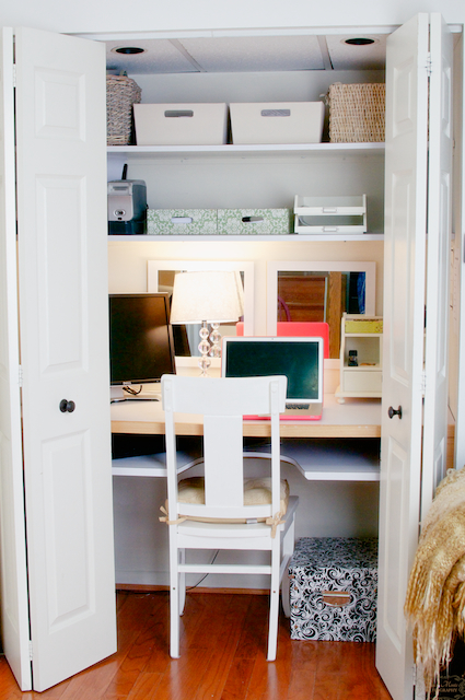 Office Space In A Closet Pdf Woodworking