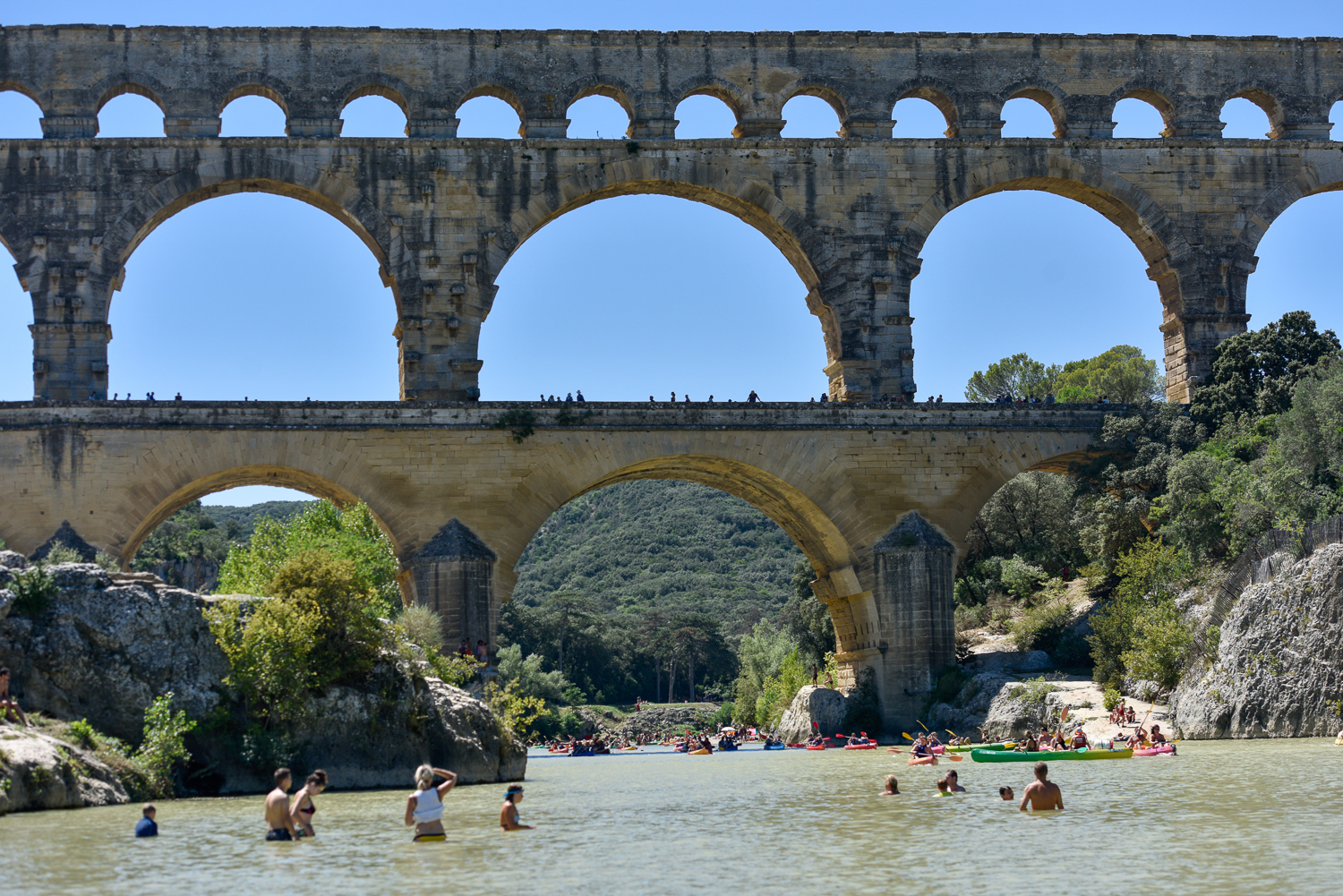 The Pont du Gard: Swimming in History